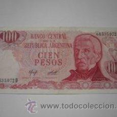 Billetes extranjeros: 100 PESOS (BANCO CENTRAL DE LA REPÚBLICA ARGENTINA). Lote 16529459