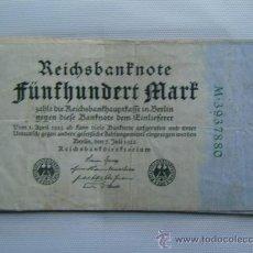 Billetes extranjeros: BILLETE ALEMANIA. 500 MARCOS. 7-7-1922.. Lote 31699032
