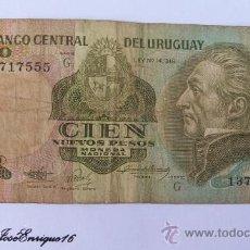 Billetes extranjeros: 100 NUEVOS PESOS, BANCO CENTRAL DEL URUGUAY. Lote 17267043