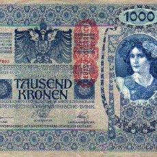 Billetes extranjeros: BILLETE - TAUSEND KRONEN - 1000 KRONEN - OESTERREICHISCH-UNGARISCHE BANK. Lote 17733442