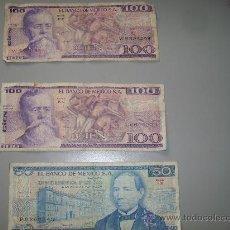 Billetes extranjeros: TRES BILLETES DE 50 Y 100 PESOS -BANCO DE MEXICO-JUL 1978 -MAY 1979. Lote 27483828