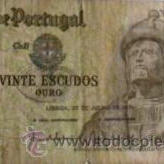 Billetes extranjeros: BILLETE DE PORTUGAL DE 20 ESCUDOS DE 1971. Lote 19309695