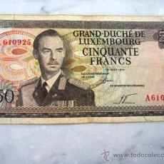 Billetes extranjeros: ANTIGUO BILLETE DE LUXEMBURGO CIRCULADO 50 FRANCOS CIRCULADO 1972. Lote 26618179