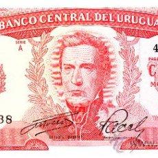Billetes extranjeros: URUGUAY BILLETE DE 100 PESOS AÑO 1967 , PICK 34. Lote 22117677