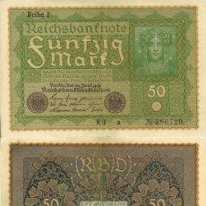 Billetes extranjeros: ALEMANIA - 50 MARCOS - 1919. Lote 22178760