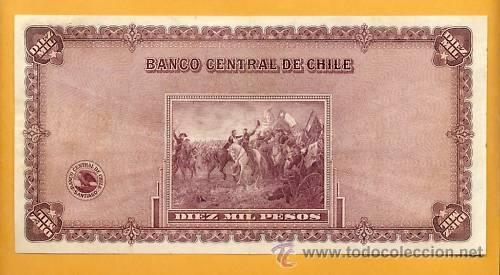 Billetes extranjeros: Chile 1940 10000 peso VF/XF MUY RARO - Foto 2 - 23038387