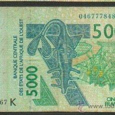 Billetes extranjeros: BILLETE AFRICA OCCIDENTAL SENEGAL 5000 FRANCS 2003 PICK 717K . Lote 26246730