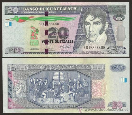 Guatemala nuevo billete de 20 quetzales 12 3 2 comprar - Billetes muy baratos ...