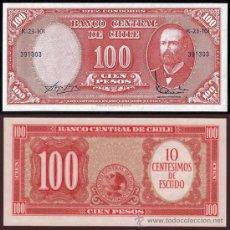 Billetes extranjeros: BILLETE CHILE - 100 PESOS - 1960 - ARTURO PRAT - PLANCHA. Lote 26762922