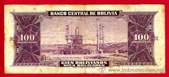 Billetes extranjeros: BILLETE BOLIVIA , 100 BOLIVIANOS 1945 , MBC- , T733 - Foto 2 - 38851039