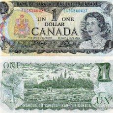 Billetes extranjeros: CANADA. OTTAWA. UN DOLAR. ONE DOLLAR. 1973. KANADA. BANK OF CANADA. BANQUE DU CANADA. SIN CIRCULAR.. Lote 261244040