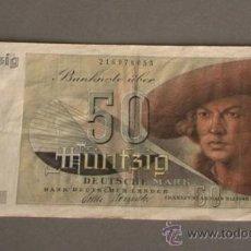 Billetes extranjeros: RARO!!!! 50 MARCOS. ALEMANIA. 1948.. Lote 27859748