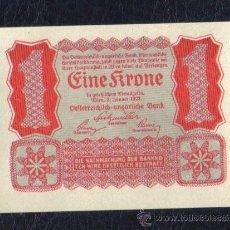 Billetes extranjeros: AUSTRIA - 1 CORONA 1922 P.73 SC UNC. Lote 27908352