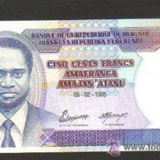 Billetes extranjeros: BURUNDI - 500 FRANCOS 1995 SC P.38 UNC . Lote 27991045