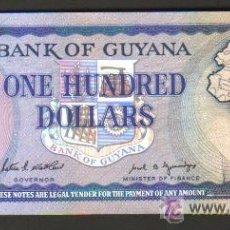 Billetes extranjeros: GUYANA - 100 DOLARES 1989 SC P.28 UNC . Lote 28142857