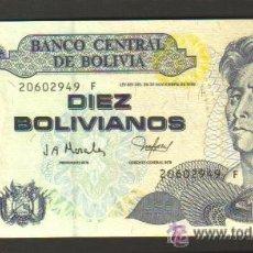 Billetes extranjeros: BOLIVIA - 10 BOLIVIANOS L1986 (1997) SC P.204 UNC . Lote 28142920