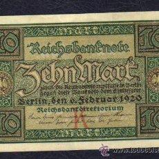 Billetes extranjeros: ALEMANIA - 10 MARCOS 1920 P.67 EBC++ XF++ . Lote 28151067