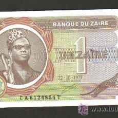 Billetes extranjeros: ZAIRE - 1 ZAIRE 1979 SC P.19 UNC . Lote 28169917
