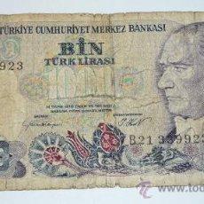 Billetes extranjeros: BILLETE 1000 LIRASI 1970 . TURQUIA . BC. Lote 28392262