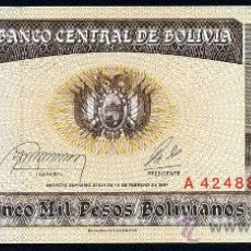 Billetes extranjeros: BOLIVIA : 5000 PESOS BOLIVIANOS 1984 S/C PICK 168. Lote 28440606