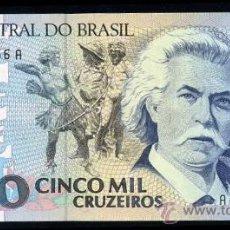 Billetes extranjeros: BRASIL : 5000 CRUZEIROS (1990/93) S/C PICK 232. Lote 28577919