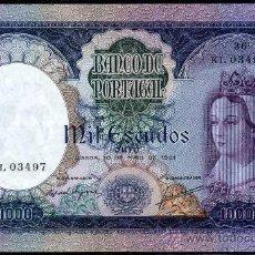 Billetes extranjeros: PORTUGAL : 1000 ESCUDOS 1961 EBC+/S/C- PICK 166. Lote 28580247