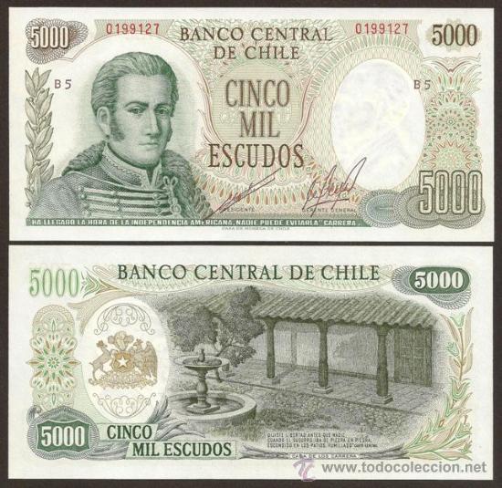 CHILE. BILLETE DE 5000 ESCUDOS (1967-76). PICK 147. S/C. MUY BONITO. (Numismática - Notafilia - Billetes Internacionales)
