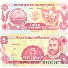 Internationale Banknoten - 6-nica5. Billete Nicaragua 5 Centavos de Cordoba. plancha - 29665113