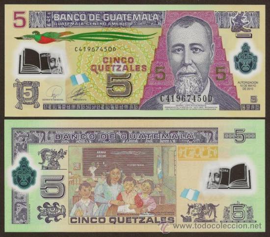 Guatemala nuevo billete de polimero de 5 quetz comprar - Billetes muy baratos ...