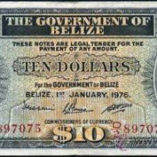 Billetes extranjeros: BELIZE (BELICE - HONDURAS BRITANICA) 10 DOLARES 1976 PICK.36C . Lote 31161076