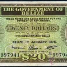 Billetes extranjeros: BELIZE (BELICE - HONDURAS BRITANICA) 20 DOLARES 1976 PICK.37C . Lote 31161097