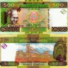 Billets internationaux: BILLETE GUINEA - 500 FRANCS - AÑO 2006 - UNC - PLANCHA. Lote 31821867
