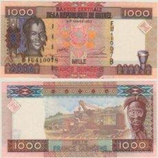 Billets internationaux: BILLETE GUINEA - 1000 FRANCS - AÑO 2006 - UNC - PLANCHA. Lote 31821920