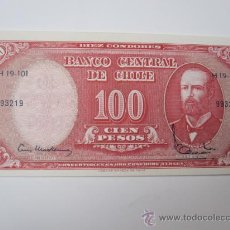 Billetes extranjeros: CHILE - BILLETE 10 CENTESIMOS DE ESCUDO SOBRE 100 PESOS (1960-61). PLANCHA - MAS IGUALES. Lote 105835127