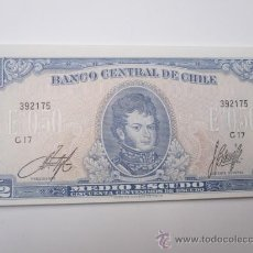Billetes extranjeros: CHILE - BILLETE MEDIO ESCUDO - O´HIGGINS Y ALMAGRO - PLANCHA - MAS IGUALES . Lote 105835144
