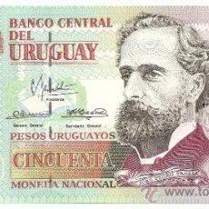 Internationale Banknoten - BILLETE DE 50 PESOS DE URUGUAY - 32906369