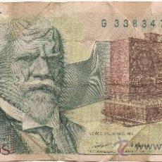 Billetes extranjeros: DOS MIL PESOS. BANCO DE MÉXICO. EMISIÓN DE 28 DE MARZO DE 1989. SERIE EB, Nº G 3383475. JUSTO SIERRA. Lote 32959502