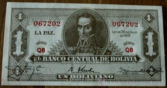 BILLETE DE BOLIVIA (Numismática - Notafilia - Billetes Extranjeros)