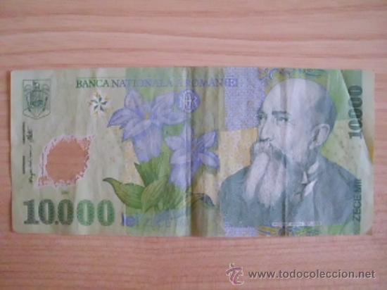 . BILLETE DE RUMANÍA. 10000 LEI DE 2000. PK 112. POLÍMERO (Numismática - Notafilia - Billetes Extranjeros)