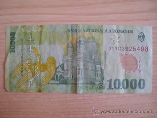 Billetes extranjeros: . Billete de Rumanía. 10000 lei de 2000. PK 112. Polímero - Foto 2 - 33304965
