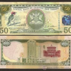 Billets internationaux: TRINIDAD & TOBAGO. CONMEM. 50 DOLARES 2006(2012). PICK 53. S/C. 50 ANIV. DE INDEPENDENCIA.. Lote 268458169
