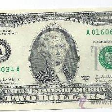 Billetes extranjeros: 4126- BILLETE DE 2 DOLARES USA- SERIE A 2003. Lote 33705716