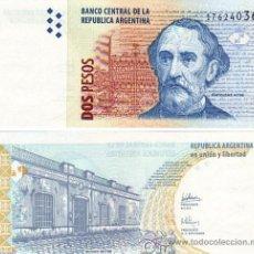 Billetes extranjeros: BILLETE 2 PESOS ARGENTINA SC PLANCHA. Lote 84679552