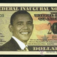 Billetes extranjeros: BILLETE DOLAR CONMEMORATIVO DEL 2009 - PRESIDENTE OBAMA MAS EN MI TIENDA - Nº2. Lote 66972807