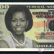 Billetes extranjeros: BILLETE DE 1 MILLON DE DOLARES CONMEMORATIVO DEL 2013 DE MICHELLE LA MUJER DEL PRESIDENTE OBAMA Nº4. Lote 100572074