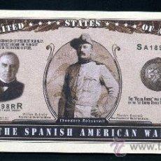 Billetes extranjeros: 1 MILLON DE DOLARES CONMEMORATIVO ( GUERRAS USA - GUERRA CONTRA ESPAÑA 1898 THEODORE ) Nº5. Lote 159159232