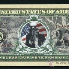 Billetes extranjeros: 1 MILLON DE DOLARES 2004 CONMEMORATIVO ( GUERRAS USA - VETERANOS DE TODAS LAS GUERRAS USA ) Nº5. Lote 90636853