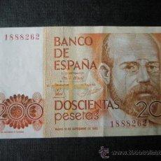 Billetes extranjeros: BILLETE DE ESPAÑA-200 PESETAS-16 SEPTIEMBRE 1980-SIN SERIE 1888262-L.ALAS CLARÍN-.. Lote 35929359