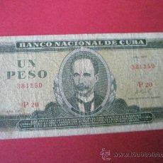 Billetes extranjeros: BILLETE CUBA-UN PESO-1970-.. Lote 35893820