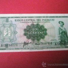 Billetes extranjeros: AºBILLETE-PARAGUAY-UN GUARANÍ-S. A18698028-AÑOS 60-PLANCHA-VER FOTOS.. Lote 35920634